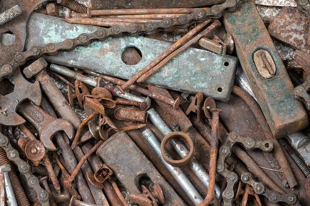 Werkzeug entrosten, wenn außer Rost sonst nichts mehr zu sehen ist
